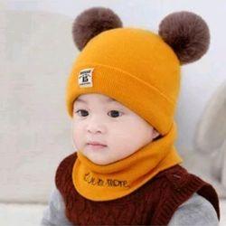 Mũ kèm khăn cho bé siêu kute giá sỉ