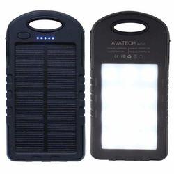 Pin Dự Phòng AVATECH có đèn led siếu sáng - năng lượng mặt trời giá sỉ