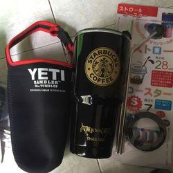 ly giu nhiet yeti thai lan Combo/ Ly 2 ong hut inox1 co rua1 tui chong tray giá sỉ, giá bán buôn