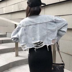 Áo khoác jean phối hình dễ thương giá sỉ