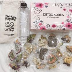 Trọn bộ 30 gói detox hoa quả sấy tặng bình 1000ml túi hộp giá sỉ