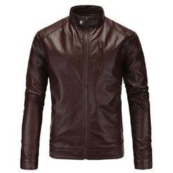 Áo khoác da nam lót lông KRAKN139 giá sỉ