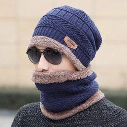 Mũ len nam kèm khăn quàng cổ giá sỉ