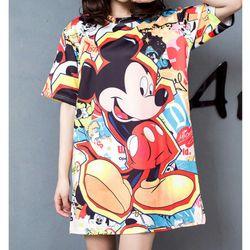 áo thun from rộng 3D mickey giá sỉ