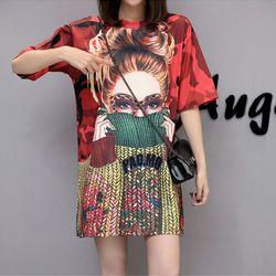 áo thun from rộng 3D girl len giá sỉ
