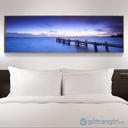 Tranh treo tường tranh nghệ thuật tranh dài phòng khách-GHS-6457-135x35