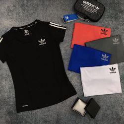 Quần áo thể thao- Áo Thể Thao Nữ 3 sọc giá sỉ