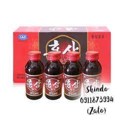 Nước hồng sâm đóng chai Hàn Quốc/Hộp 10 chai giá sỉ