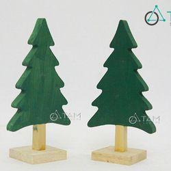 Cây thông Noel bằng gỗ nhỏ xinh để bàn Số 002