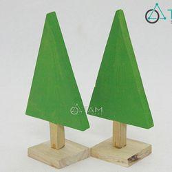 Cây thông Noel bằng gỗ nhỏ xinh để bàn Số 04