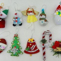 Combo 10 món phụ kiện trang trí Noel handmade XMAS-08