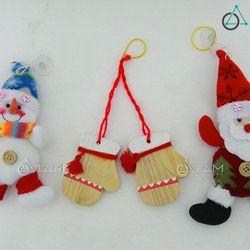 Combo 3 món phụ kiện trang trí Noel XMAS-07