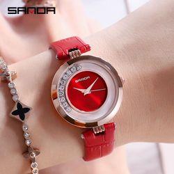 Đồng hồ nữ SANDA 245 Nhật Bản - Dây da mềm giá sỉ