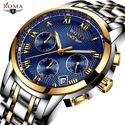 Đồng hồ Nam ROMA ITALY 9903 Retan Kính Tráng Sapphire Full Kim – Dây thép đúc đặt giá sỉ