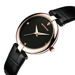 Đồng hồ nữ SANDA P196 Máy Nhật Bản - Dây da mềm giá sỉ