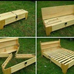 Giường gỗ xếp 3 in 1
