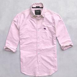 Sơ mi dài tay vải oxford họa tiết màu hồng nhạt giá sỉ
