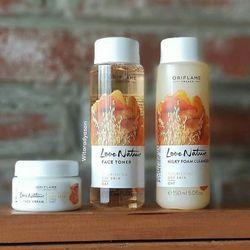 Combo làm sạch và dưỡng da lúa mạch cho da khô Oriflame 33522 33524 33523