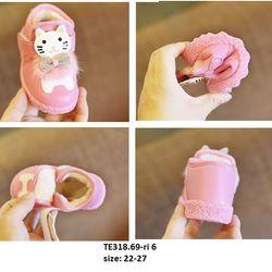 Giầy lót lông mèo hồng S22-27 TE318 giá sỉ