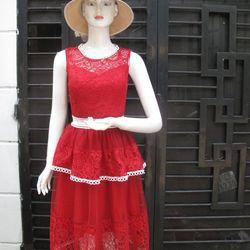 Đầm tầng ren giá sỉ
