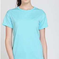 Áo thun phông nữ trơn vải dày mềm mịn thoáng mát Form Rộng Hàn Quốc Xanh - ATN06 giá sỉ