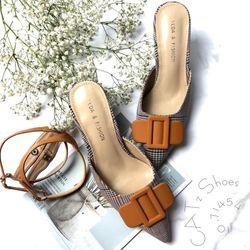 Giày sandal cao gót dép mules 2 trong 1 mùa tết 962SN05 giá sỉ