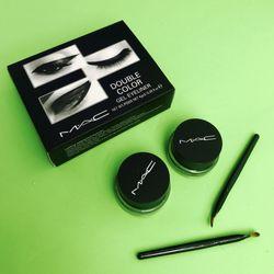 Bộ Gel kẻ mắt MacDouble Color với 2 tone màu nâu và đen giá sỉ