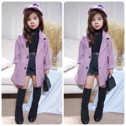 Áo khoác dạ kèm mũ cho bé yêu giá sỉ