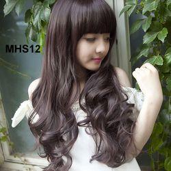 Bộ Tóc Xoăn Mái Ngang MHS12 tặng trùm tóc