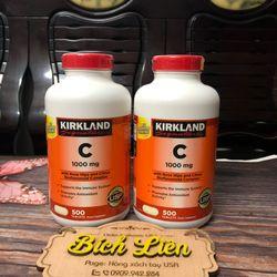 Vitamin C 1000mg Kirkland hộp 500 viên của Mỹ giá sỉ