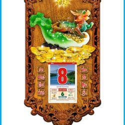 Lịch Gỗ Phong Thủy Tùy Hưu Ngọc 3DP9-THN giá sỉ