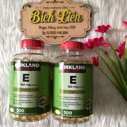 Vitamin E 400 IU Kirkland Mỹ như đẹp da trị thâm nám tàn nhang chống lão hoá tăng cường sức khỏe giá sỉ