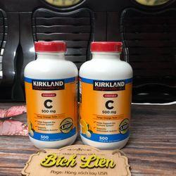 Vitamin C Kirkland được từ Mỹ - Kirkland vitamin C 500mg tăng cường hệ miễn dịch giá sỉ