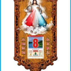Lịch gỗ công giáo Chúa Thương Xót 3DP9-CTX giá sỉ