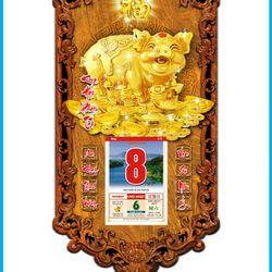 Lịch Gỗ Phong Thủy Kỷ Hợi 3DP9-KH giá sỉ