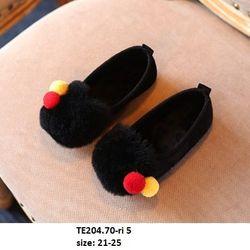 Giầy lông đen S21-25 TE204 giá sỉ