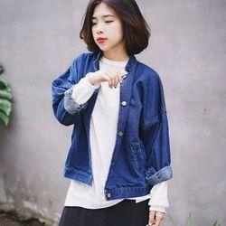 Áo khoác jeans cổ tàu giá sỉ