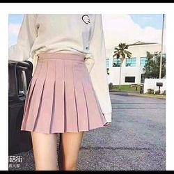 chân váy xếp ly có quần trong sai s m l giá sỉ