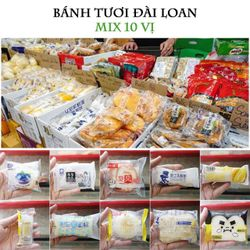 Bánh tươi Đài Loan - Mix 10 vị thùng 1kg giá sỉ