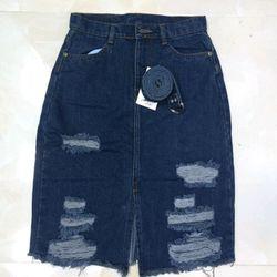 chân váy jeans dài giá sỉ