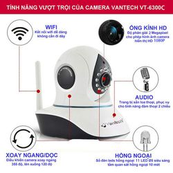 CAMERA IP WIFI 20MP VANTECH VT-6300C giá sỉ