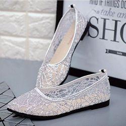 Giày búp bê lưới cao su thoáng mát siêu bền-305