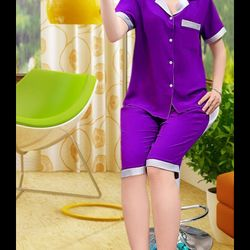 Đồ bộ pijama phi lụa quần lở phối màu giá sỉ