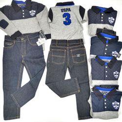 Bộ áo tay dài quần Jeans bé Trai - Hàng Mỹ giá sỉ