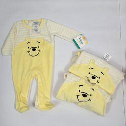 Bộ Body Suit Vàng cổ tròn cho Bé từ 0 - 9 tháng tuổi - Hàng Mỹ Disney Baby giá sỉ