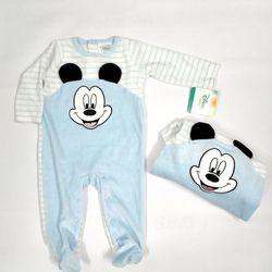 Bộ Body Suit Xanh Cổ Tròn cho Bé từ 0 - 9 tháng tuổi - Hàng Mỹ Disney Baby giá sỉ