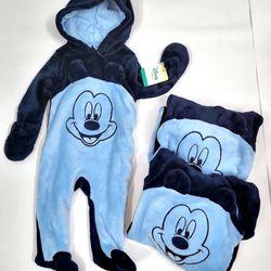 Bộ Body Suit Xanh cho Bé từ 0 - 9 tháng tuổi - Hàng Mỹ Disney Baby giá sỉ