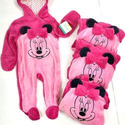 Bộ Body Suit Hồng Nhạt cho Bé từ 0 - 9 tháng tuổi - Hàng Mỹ Disney Baby giá sỉ