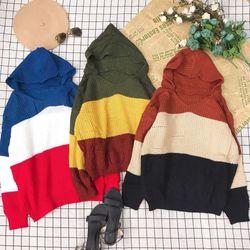 Áo len sọc có nón về thêm giá sỉ