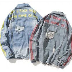 khoac jeans 2 sọc giá sỉ